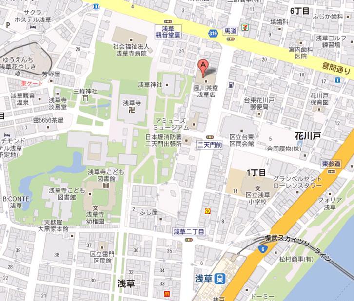 ブルーウェーブイン浅草 風月茶寮 地図