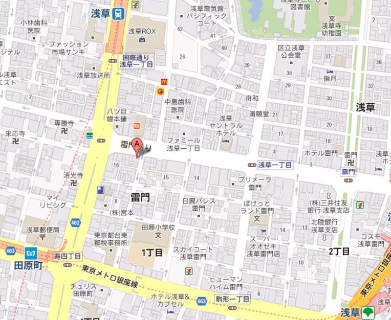 浅草雷門バール 地図