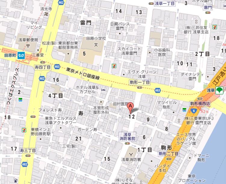 菓子屋 タルティーヌ 地図