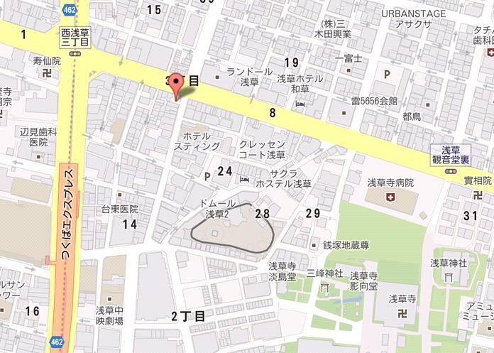 本陣そば 浅草店 地図