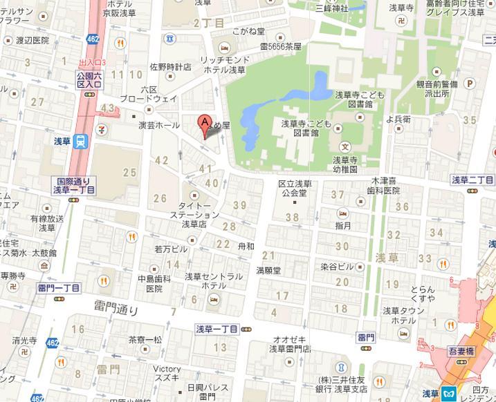 浅草カフェ ラ・グランド・カリス 地図