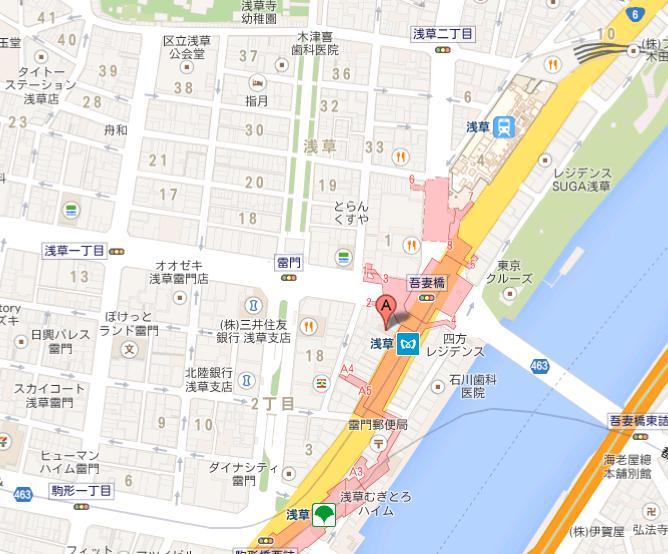 豚骨醤油ラーメン 浅草隊 地図