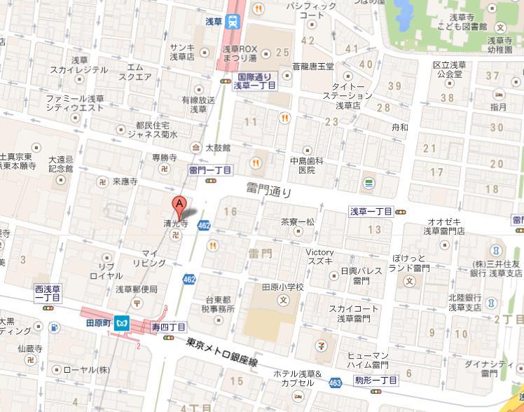 PANAS 浅草店 地図