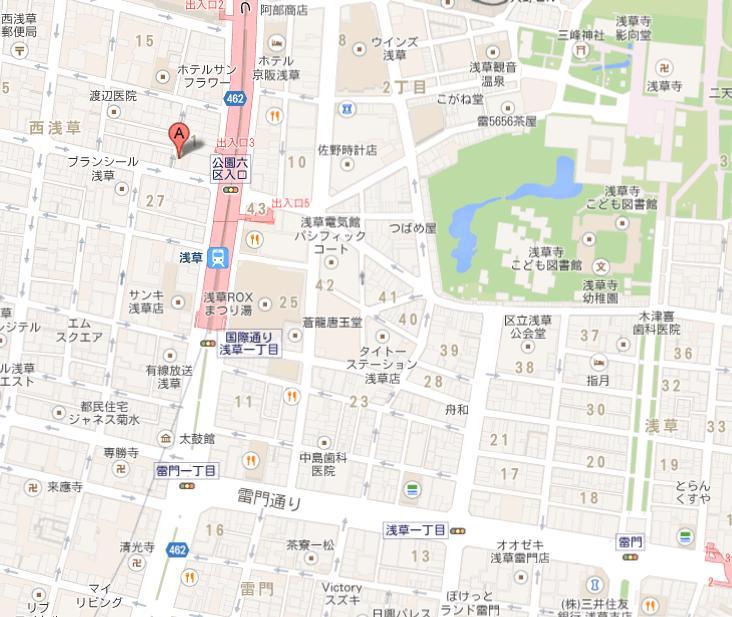 新日本料理 越後家 地図