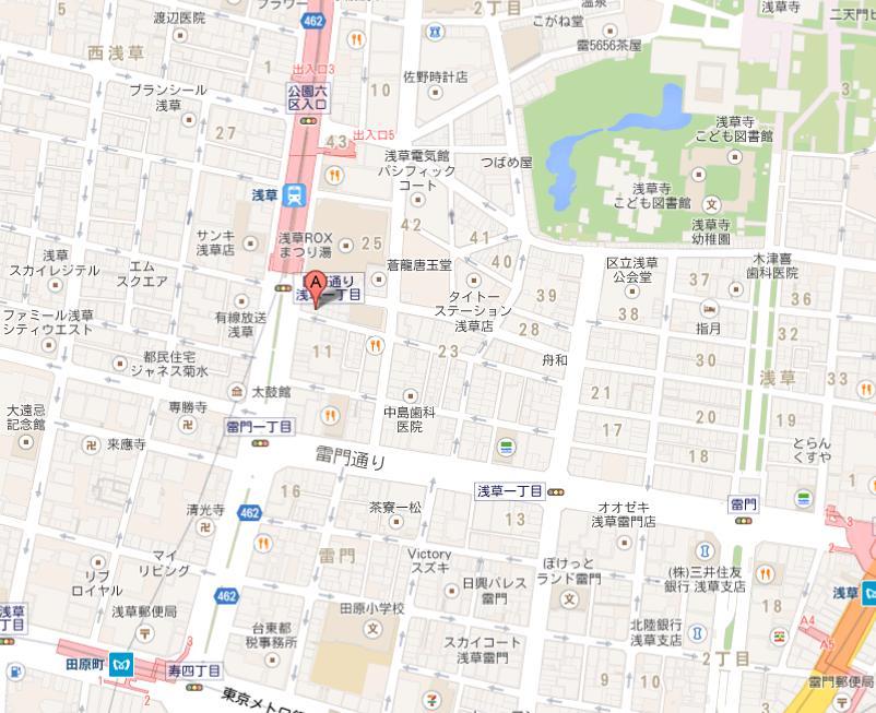 浅草 糸吉や 地図