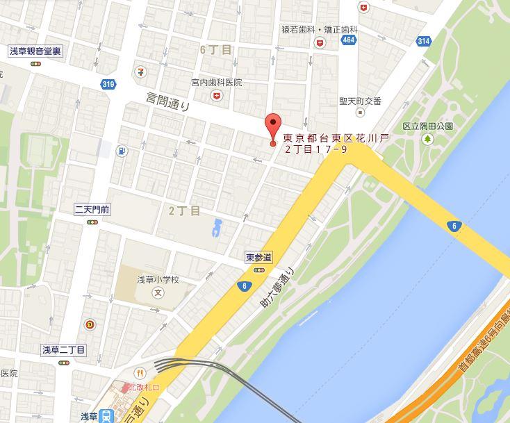 らーめん弁慶 地図