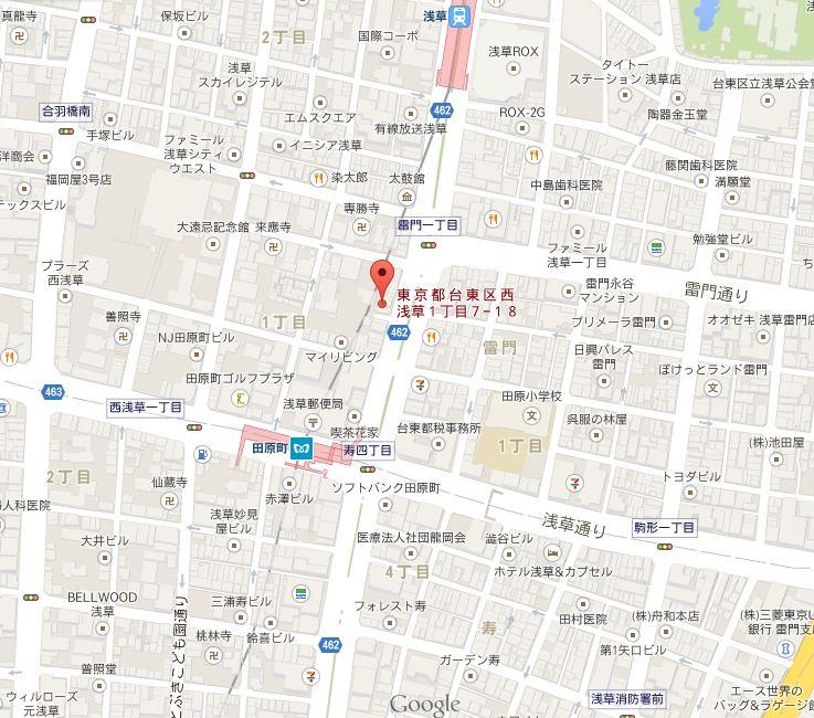 居酒屋 餃子の王国 地図